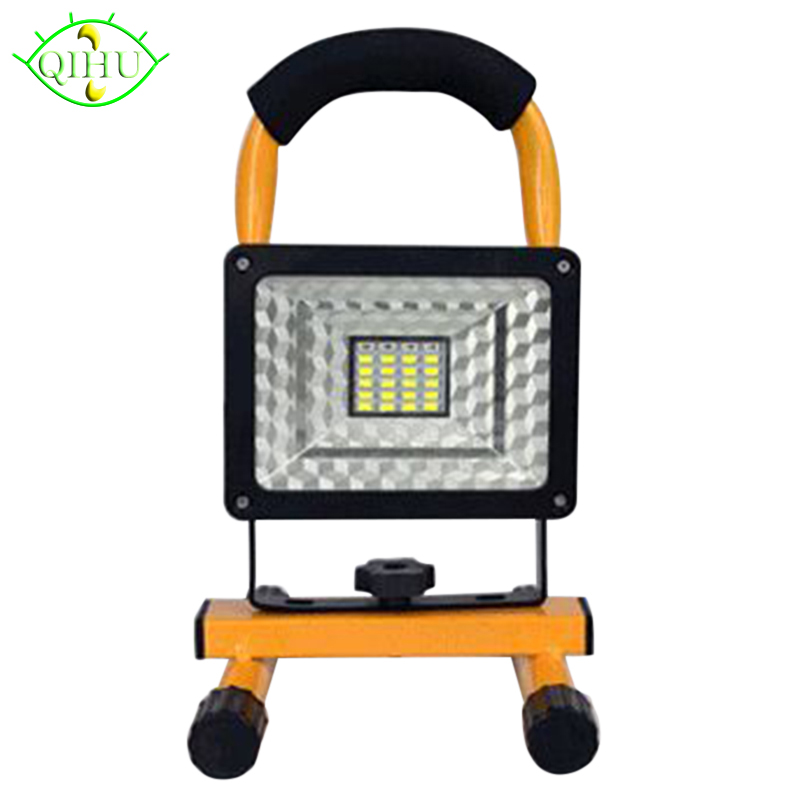Flood Lights Rechargeable led floodlight Lithium-ion Battery 15W Flood Lamp Portable Garden Camping light lamp Ip65 led portable floodlight 20w rechargeable spotlight lithium ion battery outdoor emergency camping fishing night work ip65 dynasty