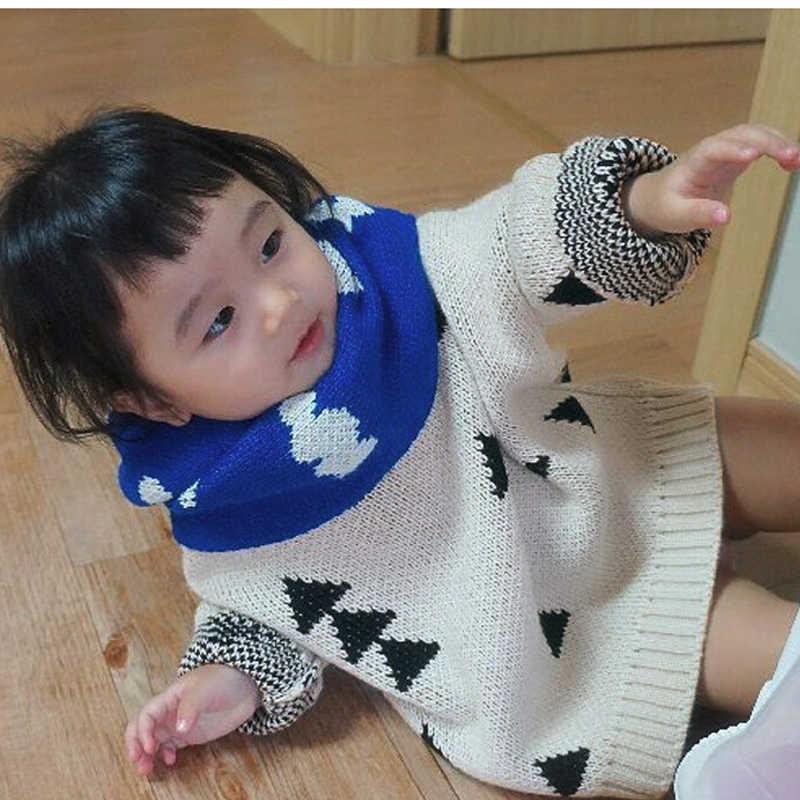 2019 ילדים חדשים ילד בנות סוודר עבה משולש בציר סוודרים מותג סגנון תינוק בנות מגשר בגדי אביב סתיו ילדים תלבושות