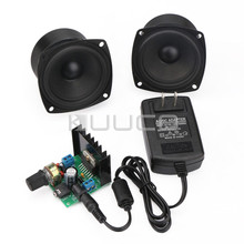 TDA7297B Digital Amplifier 15W+15W Dual-Channel Audio Control Module+3 inch 4Ohm15W Full Range Audio Speaker+DC12V Power adapter