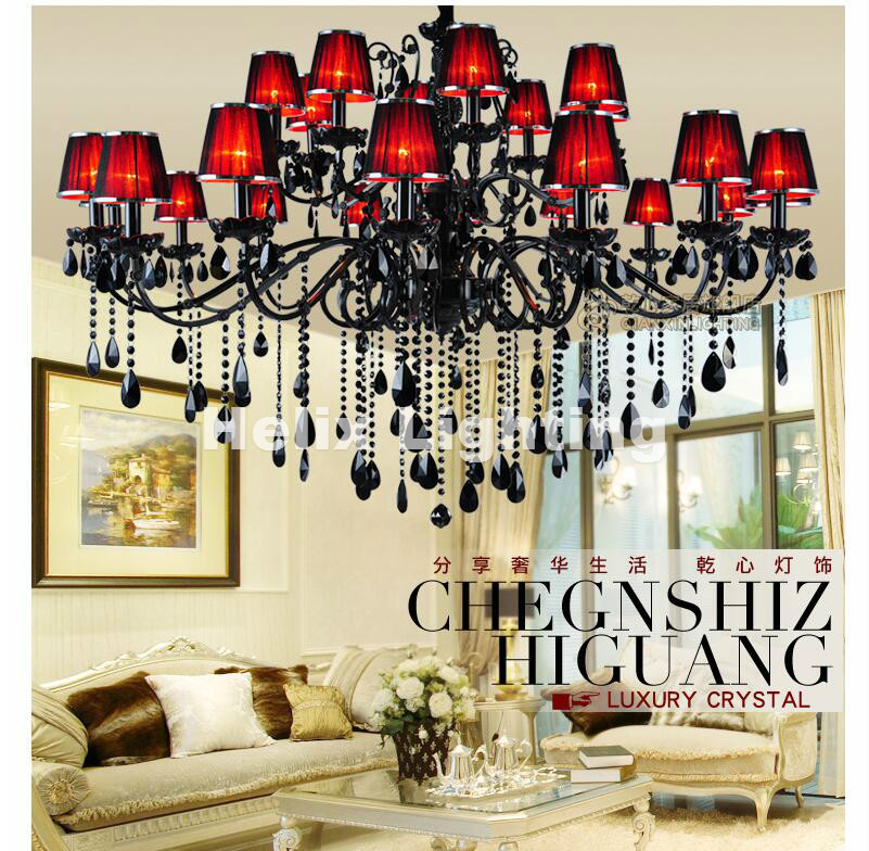 Free Shipping Newly Black Crystal Chandelier Lighting Top Luxury Factory Direct Selling 15L/18L/24L Design Crystal Chandelier Free Shipping Newly Black Crystal Chandelier Lighting Top Luxury Factory Direct Selling 15L/18L/24L Design Crystal Chandelier
