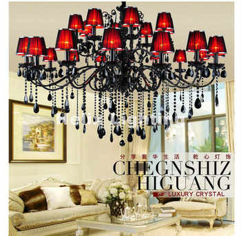 Free Shipping Newly Black Crystal Chandelier Lighting Top Luxury Factory Direct Selling 15L/18L/24L Design Crystal Chandelier - Category 🛒 Lights & Lighting