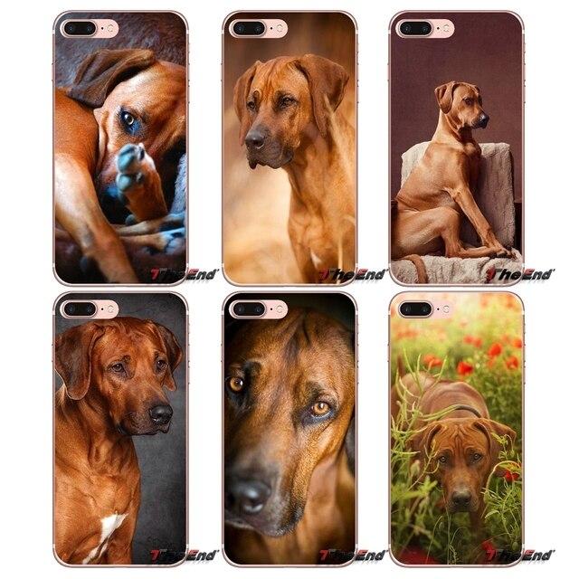 For Sony Xperia Z Z1 Z2 Z3 Z5 compact M2 M4 M5 E3 T3 XA Aqua LG G4 G5 G3 G2 Mini Capa Mobile Phone Cover Rhodesian Ridgeback Dog
