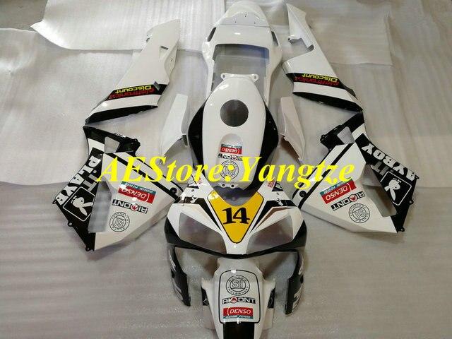 Do malowania wysokiej jakości zestaw do Hondy CBR600RR F5 03 04 CBR 600RR 2003 2004 CBR 600 RR biały czarny ABS owiewki zestaw + prezenty HX18