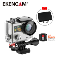 4K Camera H3R 2.4G remotel control Dual Screen Action Camera 4K 25FPS Sport travel Camera Same design as gopro hero 4 Black