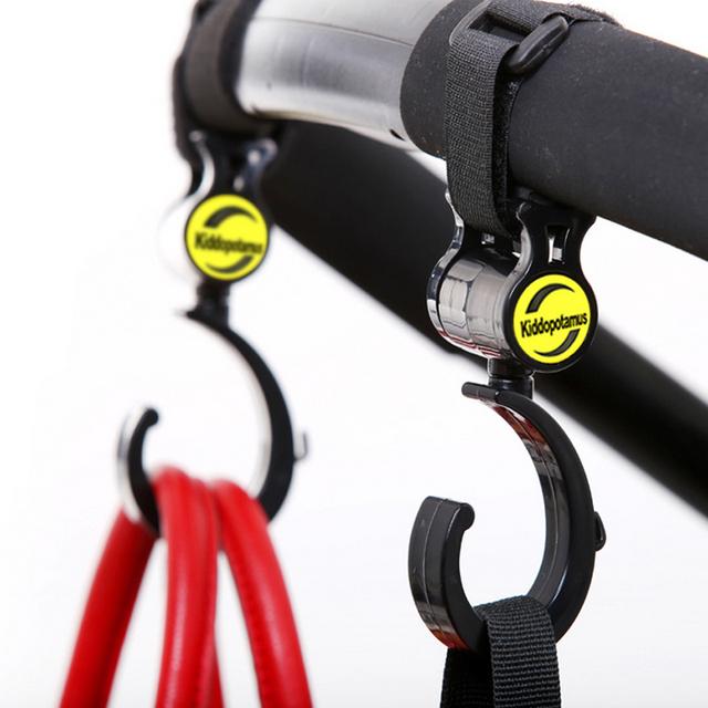 2 PCS/LOT Baby Stroller Accessories Hook  Multifunction Baby Stroller Black High Quality Plastic Hook ATRQ0234