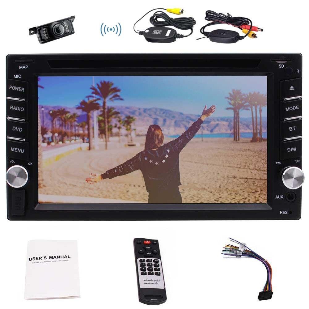 Стерео автомобиля Windows 6.2 двойной 2DIN в голову Авторадио группа Авторадио Bluetooth/FM и АМ ВЫСТР/пять сенсорных screenTF/Интерфейс USB+Беспроводная камера