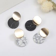 2019 New Fashion Earrings Geometric Round Pendant Female Wild
