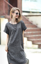 Free shipping 2015 maternity clothes for pregnant women dress cotton linen dresses for gravida wear casual