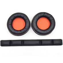 Mayitr High Elasticity Replacement Ear Pads Headband Set for SteelSeries Siberia 840 Wireless Headset