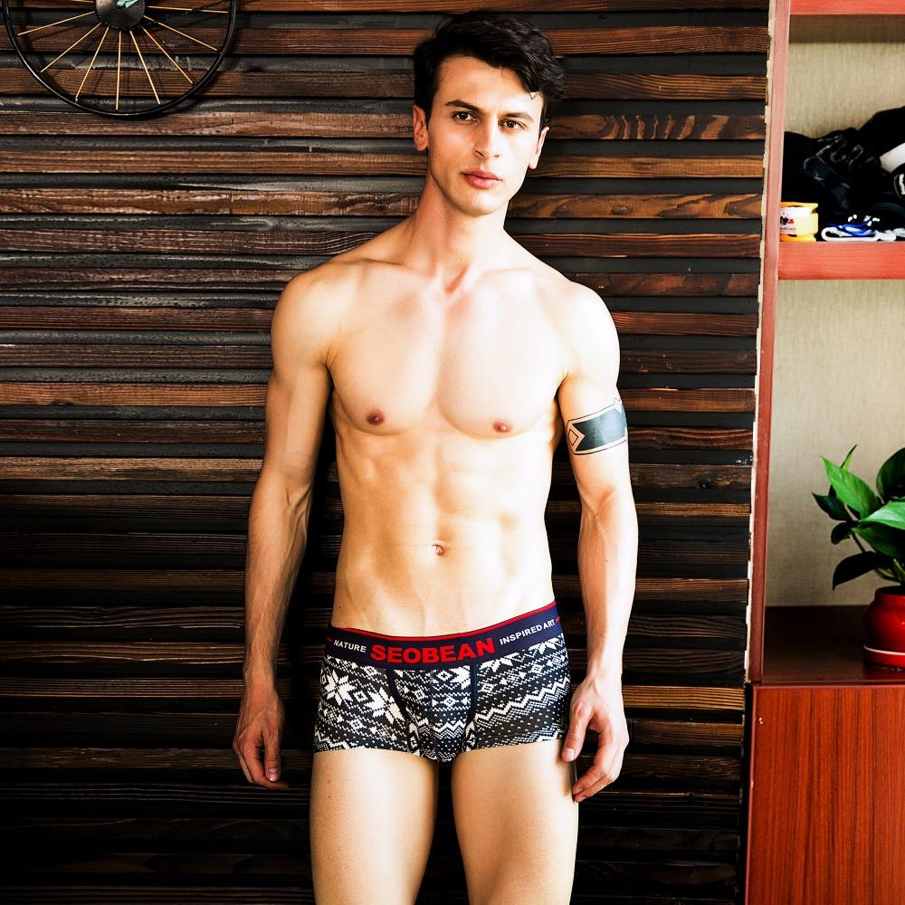 Topdudes.com - Men's New Style Low-Waist U-bag Boxer Shorts Sexy Cotton Underwear