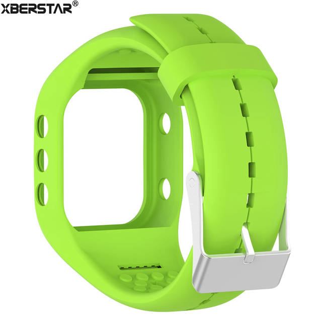 c35cbf3629f6 € 8.12 22% de DESCUENTO De goma de silicona pulsera de muñeca banda correa  de reloj Polar A300 deportes correas de Fitness y rastreador de ...