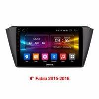 9 inch 2GB RAM+32GB ROM Android 6.0 Octa 8 Core Car DVD Player For Skoda Fabia 2015 2016 GPS Navigation Radio Stereo TPM