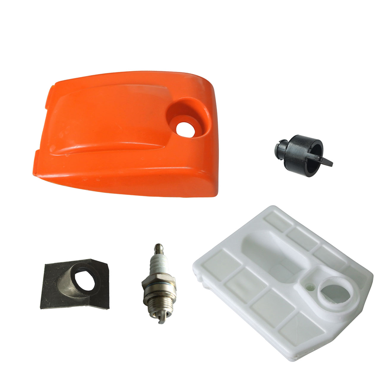 New Air Filter & Filter Cover & Spark Plug For Chinese Chainsaw 4500 5200 5800