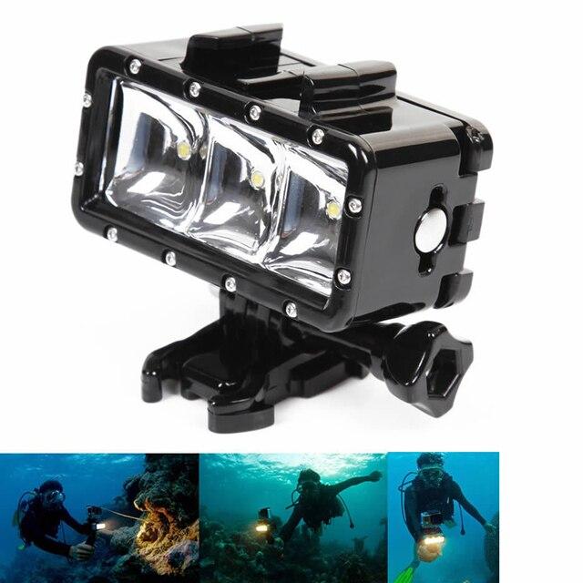 Бесплатная Доставка! Подводный Водонепроницаемая Дайвинг 30 М Спорт Свет Крепление Для GoPro Hero 5,4, 3 SJCAM SJ4000 серии XIAOMI YI Cam
