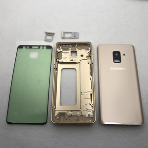 Image 2 - For Samsung Galaxy A8 2018 A530 A530F Full Housing Middle Frame metal Bezel Housing Chassis A8 Battery Glass Back Cover
