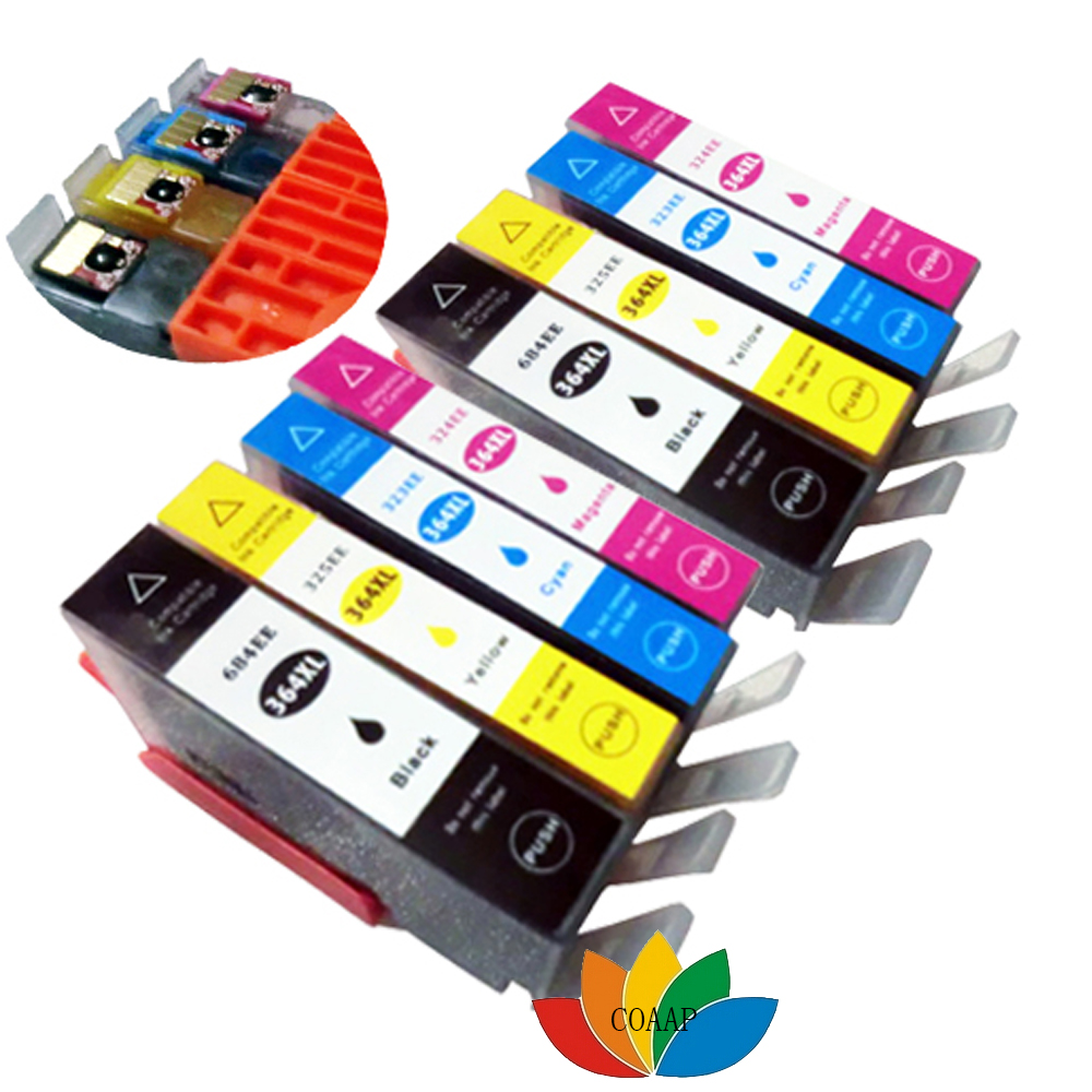 8 Compatibele HP 364 XL CHIPPED-inktcartridge voor Photosmart 5510 5515 5520 5524 6510 7510 C6380 C5383 C5390 C6300 printer