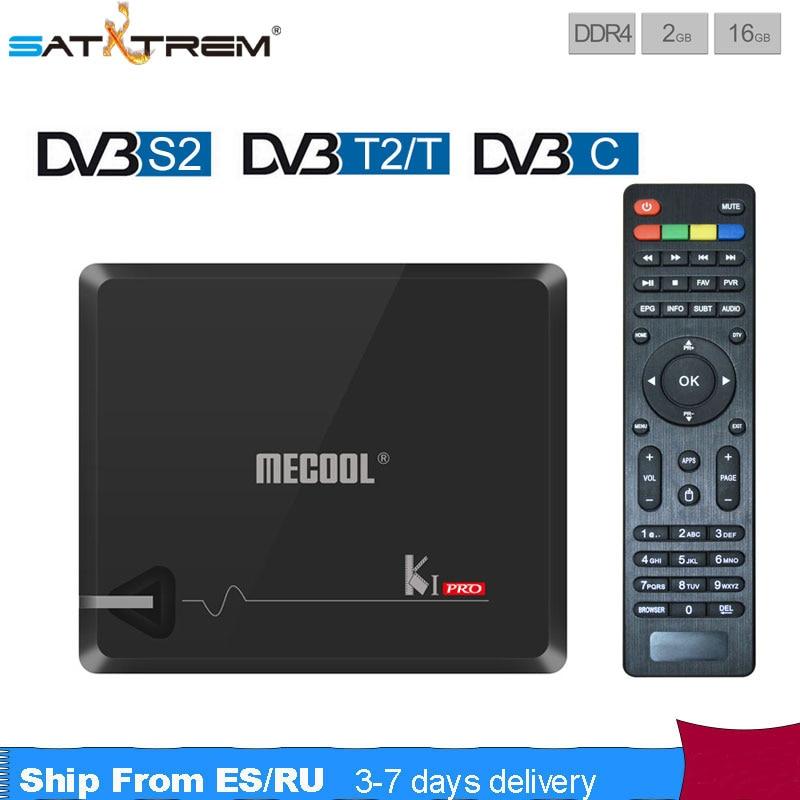 MECOOL Android tv box KI PRO DVB-S2/T2/C COMBO 2 gb/16 gb ROM H.265 1080 p 4 k/2 k HDMI2.0 2.4 3gwifi skype Facebook set top box