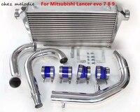 Aluminium racing turbo Intercooler radiator kit for Mitsubishi Lancer evo 1 2 3 4 5 6 7 8 9 10, auto tuning