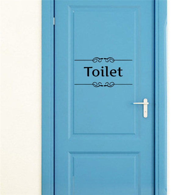 Toilet Bathroom Door Stickers 28*15cm 8