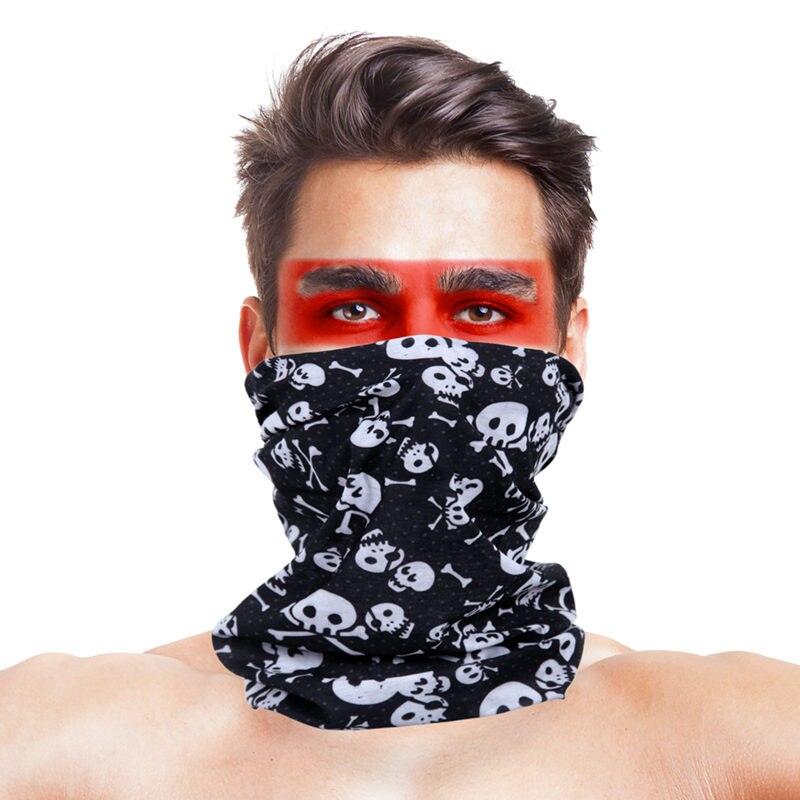 Военные страйкбол маски для вечеринки Полиэстеровые повязки на голову шарф Вечерние Маски унисекс головной убор Хэллоуин пугающая маска - Цвет: 055