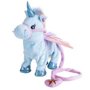 Image 3 - VIP ไฟฟ้าเดิน Unicorn Plush ของเล่นม้านุ่มตุ๊กตาสัตว์ของเล่นอิเล็กทรอนิกส์ร้องเพลงเพลงยูนิคอร์นของเล่นคริสต์มาสของขวัญ