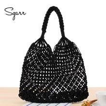 66d2eaa482 SGARR Fashion Women Straw Beach Bag High Quality Ladies Shoulder Bag New  Fashion Hollow Out Female Net Bucket Meassenger Bags