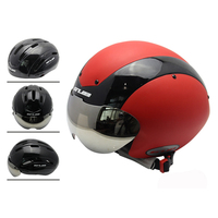 New Time Trail Racing Bicycle Helmet Multi Function 13 Air Vent Goggle Cycling Helmet Road Bike