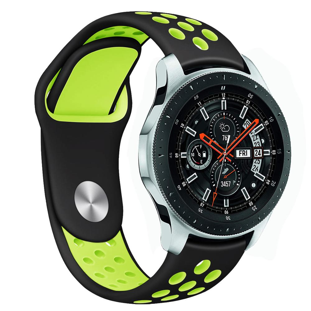 22mm Watch Band For Samsung Galaxy Watch 46mm Gear S3 Classic Huami Amazfit Watch Silicone Sport Watch Band Strap 91011