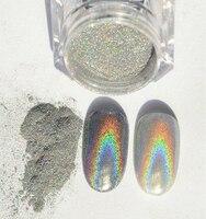 6pc Lot 1g Holographic Nail Polish Dust Rainbow Chameleon Hologram Nail Art Holographic Powder