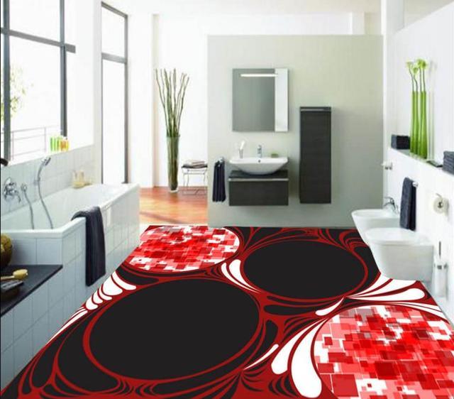 3d floor painting wallpaper custom Creative design patterns 3d