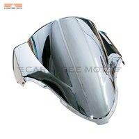 Chrome Motorcycle Windscreen Windshield Wind Screen Case for Suzuki Hayabusa GSXR1300 GSX 1300R 1997 2007