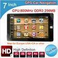 TOPSOURCE 7 polegada HD de Navegação GPS Do Carro 800 MHZ FM/8 GB/256 M 2016 Mapas Navitel rússia/Espanha/Cazaquistão Europa/EUA CAMINHÃO GPS
