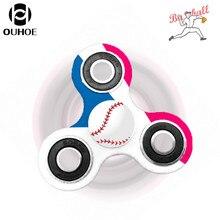 OUHOEมือปั่นอยู่ไม่สุขมือปั่นเบสบอลหลายสี, EDCโฟกัสที่มีสีสันของเล่นสำหรับเด็กและผู้ใหญ่
