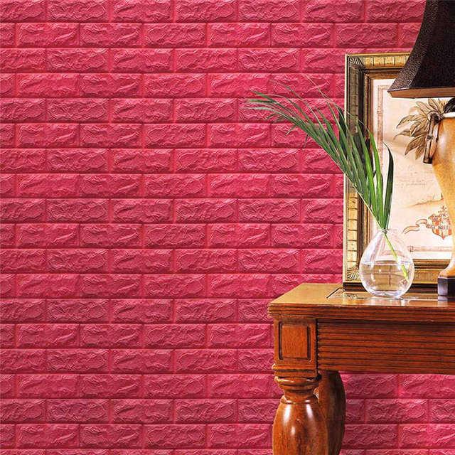 wall stickers pe foam 3d wallpaper diy wall stickers wall decor
