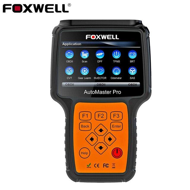 FOXWELL NT644 Pro Automotive OBD 2 skaner resetowanie światła oleju ABS SRS DPF EPB SAS BRT TPS TPMS pełny System samochodowy system OBD narzędzie diagnostyczne
