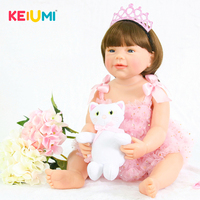 Collectible Reborn Baby Doll 22'' 55cm Silicone Full Body Princess Girl Doll Newborn Babies Toy For Kid Christmas Birthday Gift
