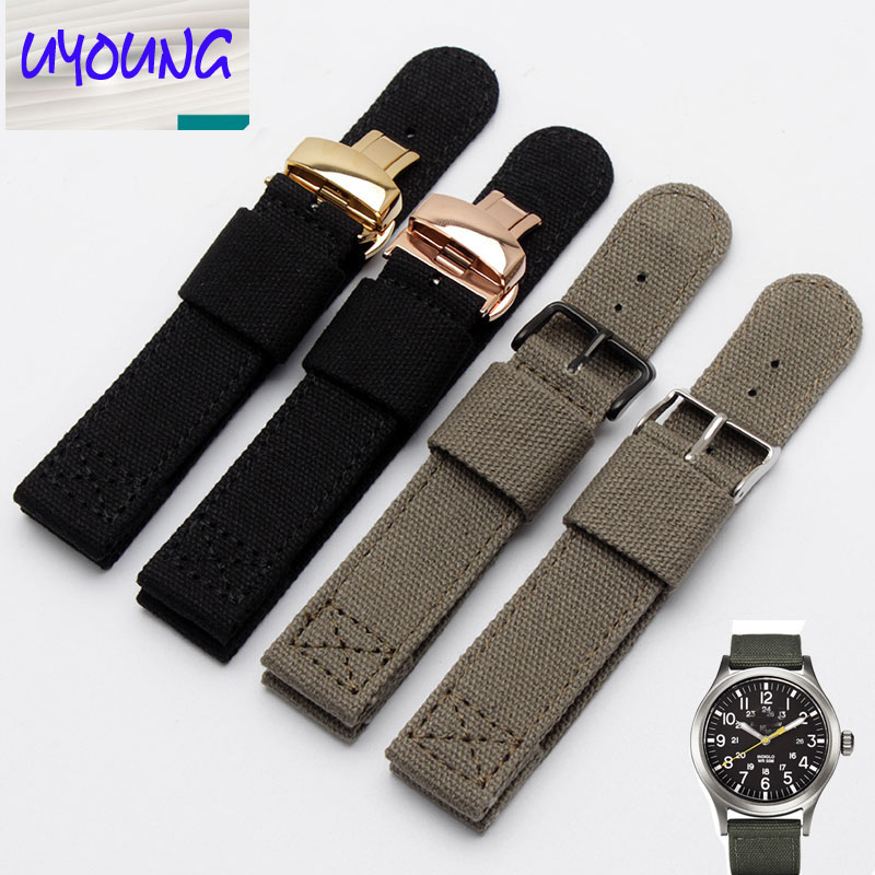 HENGRC Watch Band Outdoor Sports Nylon Nato Strap 18 20 22 mm Handmade Canvas Watchband Steel Metal Needle Buckle canvas nylon watchband tool for garmin fenix 5 forerunner 935 fr935 leather watch band sports strap steel buckle bracelet