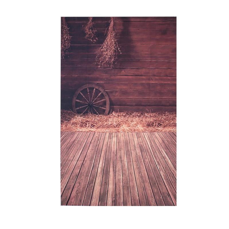 Wood Floor Wheel Photo Background Vinyl Studio Photography Backdrops Prop DIY#High Quality 10x10ft vinyl custom wood grain photography backdrops prop studio background tmw 20185