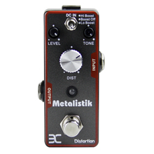 ENO EX Metalisk TC-11 Heavy distortion Sturdy metal construction Three controllers (Volume, Tone and Dist)  True bypass