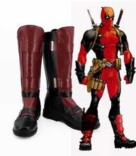 New Deadpool Cosplay Boots Wade Wilson  Anime Shoes Custom Made