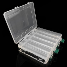 1PCS Professional Double Side 10 Compartments Fishing Tackle Tools Box Lure Bait Hooks Storage Box transpartent 19.5*16.5*4.5cm цены онлайн