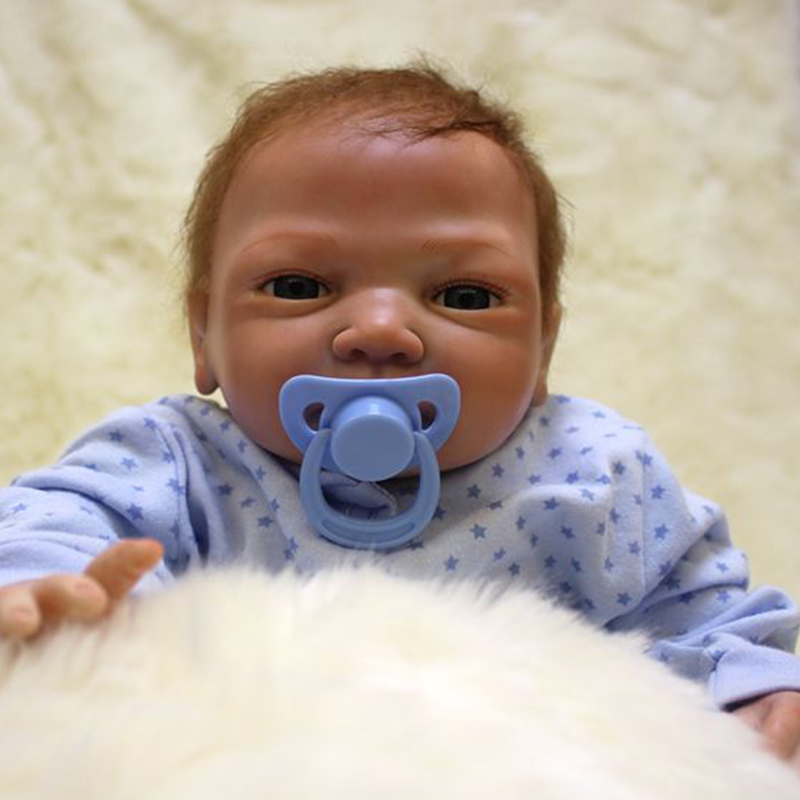Image 3 - Nicery 20inch 48 50cm Bebe Doll Reborn Soft Silicone Boy Girl Toy Reborn Baby Doll Gift for Blue Clothes-in Dolls from Toys & Hobbies