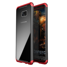 LUPHIE Aluminum Frame Bumper and Tempered Glass Back Cover for Samsung Galaxy S8 S8Plus