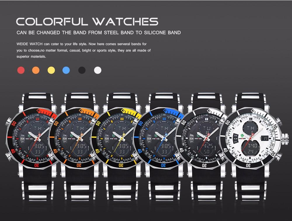 Weide WH5203 Military Quartz Digital Watch