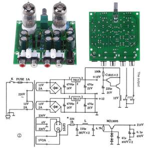 Image 3 - Комплект трубного усилителя 6J1, Diy комплект усилителя, Hi Fi стерео электронный трубчатый предусилитель, плата предусилителя лампа, модуль усилителя, усилитель