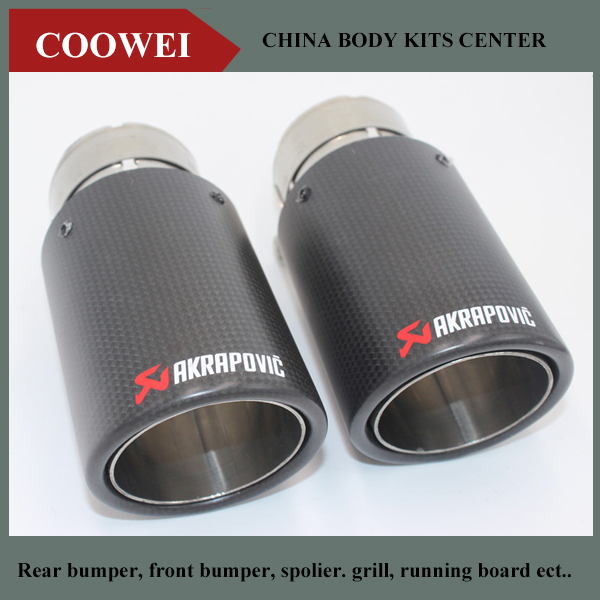 2PCS 76MM INLET 76MM OUTLET Carbon Fiber Stainless Steel Universal Car Exhaust Pipe Tip Akrapovic Car Exhaust Muffler Tip-in Mufflers from Automobiles ... & 2PCS 76MM INLET 76MM OUTLET Carbon Fiber Stainless Steel Universal ...