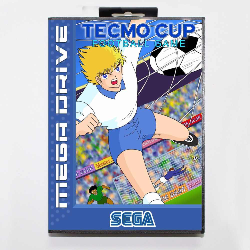 Tecmo Cup Football 16 bit MD Game Card With Retail Box For Sega Mega Drive/ Genesis