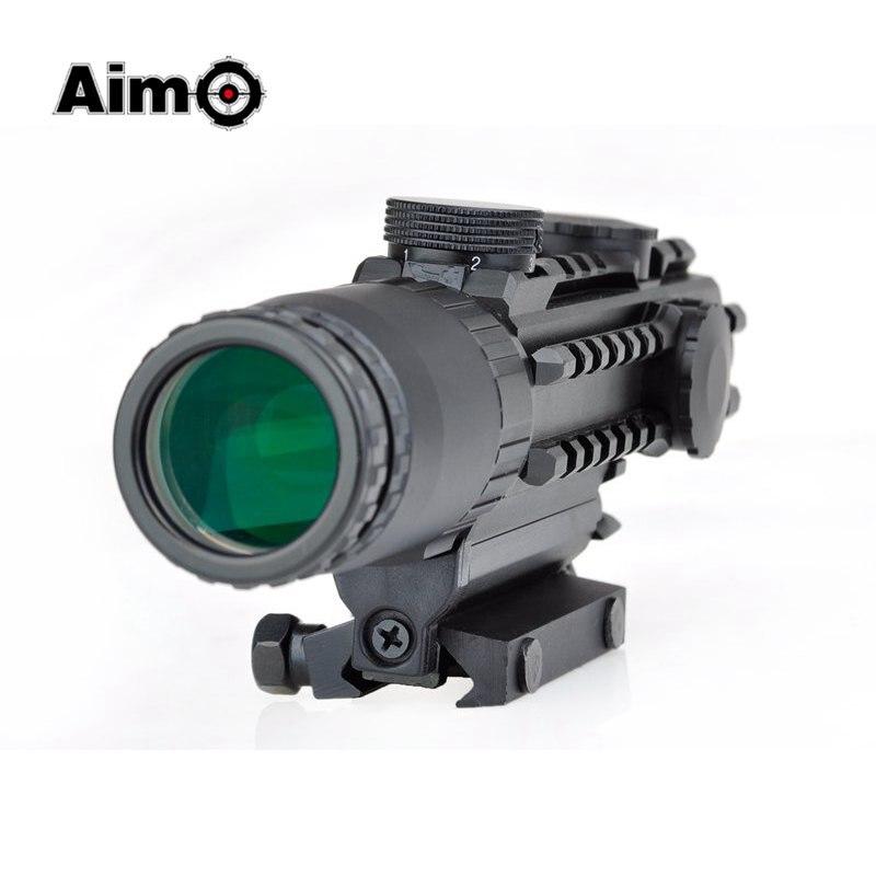 Aim O 1-3x Reticle Rifle Optical Sight Scope For Hunting Air Gun Rifle Scope Tan AO3033