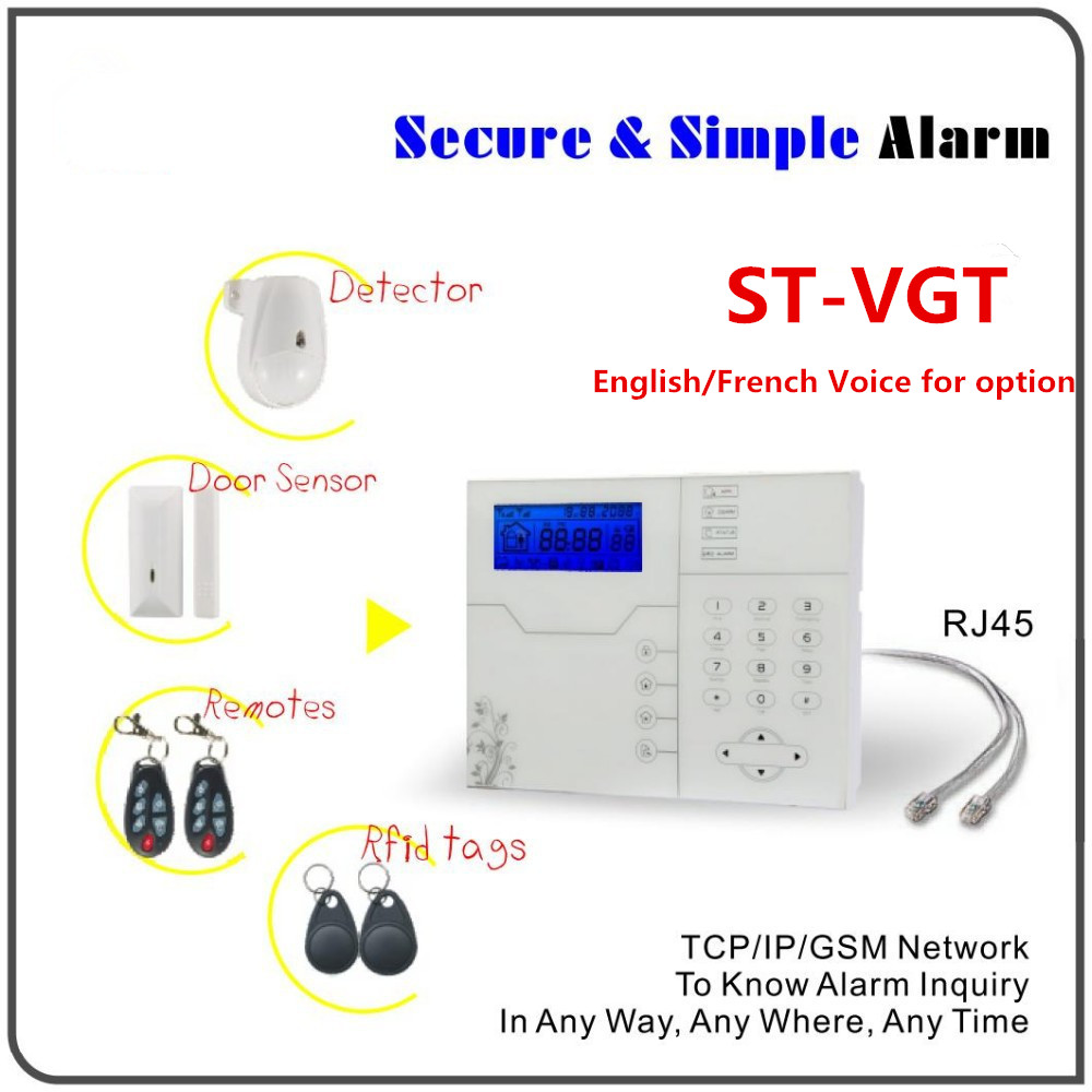 Bulk order Big Discount French Voice prompt Wireless TCP/IP Alarm GSM Alarm System Home Alarm System With WebIE and App Control