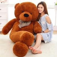 160CM 180CM 200CM 220CM giant plush stuffed teddy bear big animals kid baby dolls life size girls toy gift for children 2018
